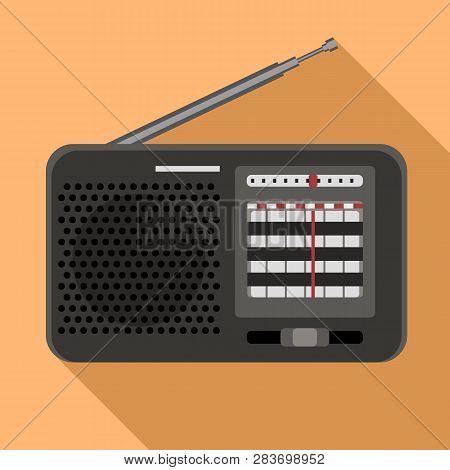Am Radio Icon. Flat Illustration Of Am Radio Vector Icon For Web Design