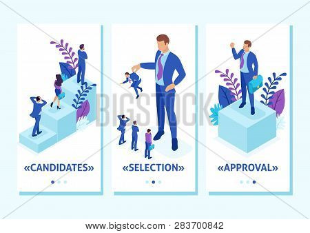 Isometric Template App Personnel Change, The Big Boss Keeps The Employee The Rest Are Afraid, Smartp