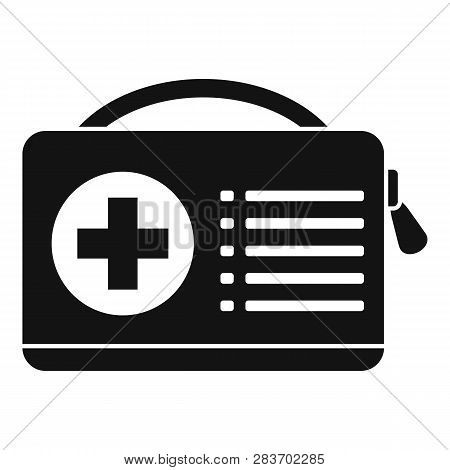 First Aid Kit Icon. Simple Illustration Of First Aid Kit Vector Icon For Web Design Isolated On Whit