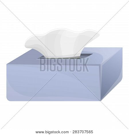 Wet Wipes Box Icon. Cartoon Of Wet Wipes Box Vector Icon For Web Design Isolated On White Background