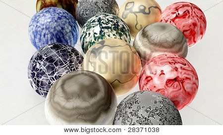 isolated marbles 3d