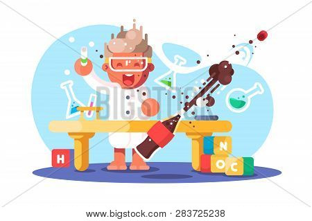 Boy Chemist And Kids Future Dream Professional