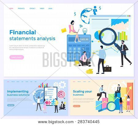 Financial Statements Analysis And Solution Vector. Implementing Solutions And Scaling Business, Peop