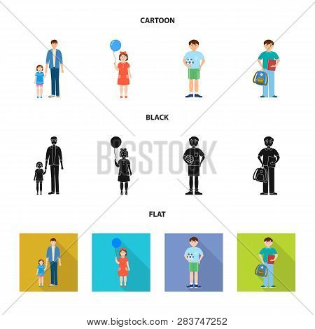 Vector Illustration Of Character And Avatar  Symbol. Set Of Character And Portrait Stock Vector Illu