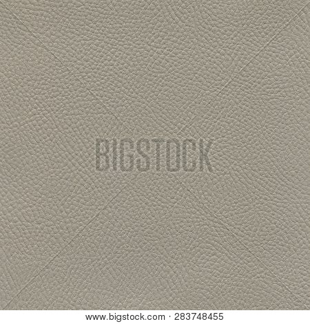 A Textured Gray Leather Background For Designers