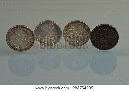Soviet Art Silver Coins 1921-1925 Year Soviet Union