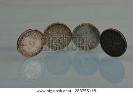 Silver Coins Of The Soviet Union Of 1921-1925 Coinage Fifty Kopeks Soviet Art