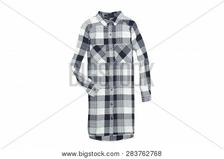 Checkered Womans Shirt Isolate On White Background