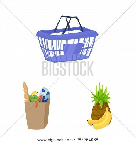 Vector Illustration Of Food And Drink Sign. Set Of Food And Store Vector Icon For Stock.