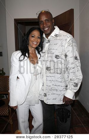 SANTA YNEZ, CA - MAY 30: Barry Bonds and Sheila E at 'Rhythm on the Vine' charity event to benefit Shriners Children Hospital at the Gainey Vineyard May 30, 2009 in Santa Ynez, California