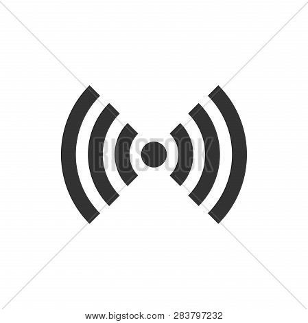 Wifi Internet Sign Icon In Flat Style. Wi-fi Wireless Technology Vector Illustration On White Isolat