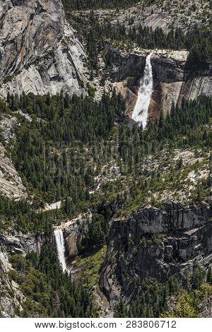 Navada Falls And Vernal Falls In Yosemite