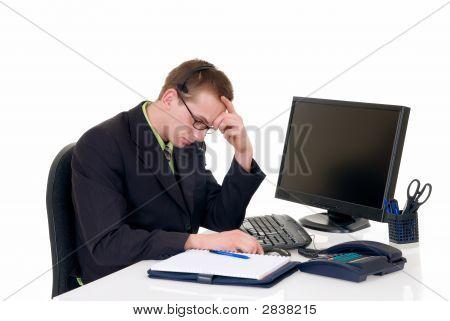 Stressed Businessman Office