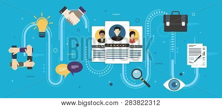 Recruitment And Selection Of People Qualified For Employment. Hiring And Recruitment Concept, Job In