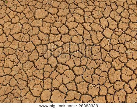 Dry clay earth