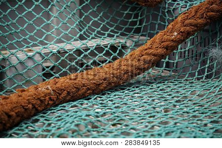 Old Fishing Nets, Tool Detail For Fishing, Sea Food