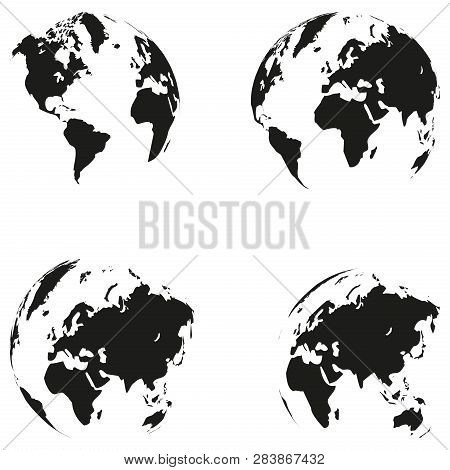 Earth Globe And Earth Logo, Globe And Earth Globe Collection