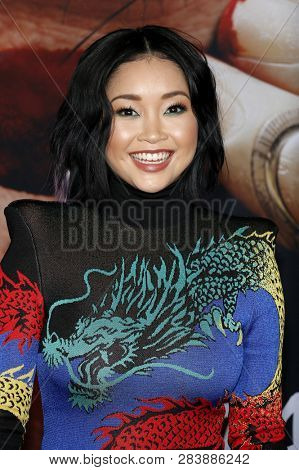 Lana Condor at the Los Angeles premiere of 'Alita: Battle Angel' held at the Regency Village Theatre in Westwood, USA on February 5, 2019.