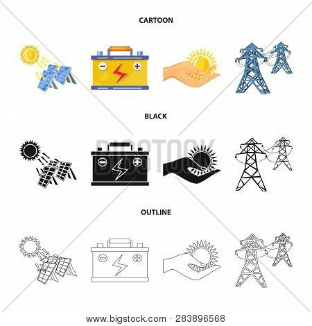 Isolated Object Of Innovation And Technology  Logo. Collection Of Innovation And Nature  Vector Icon