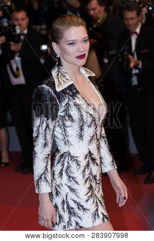 CANNES, FRANCE - MAY 10: Le?a Seydoux attends the screening of Cold War during the 71st Cannes Film Festival at Palais des Festivals on May 10, 2018 in Cannes, France.