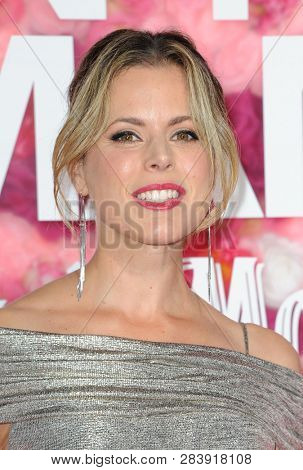 Erin Cardillo at the Los Angeles premiere of 'Isn't It Romantic' held at the Ace Hotel Theatre in Los Angeles, USA on February 11, 2019.
