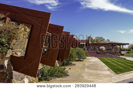 Scottsdale, Az - March 6, 2015: View Of Taliesin West, The Landmark Winter Home And School In The De