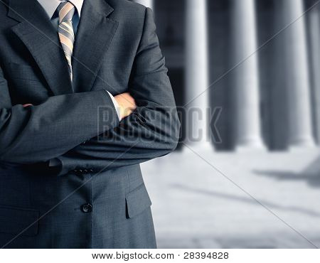 Man At Courthouse