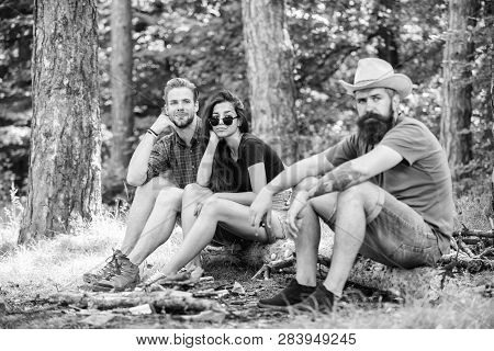 How Build Bonfire Outdoors. Camping Weekend Leisure. Forest Camping Bonfire. Man Brutal Bearded Hips