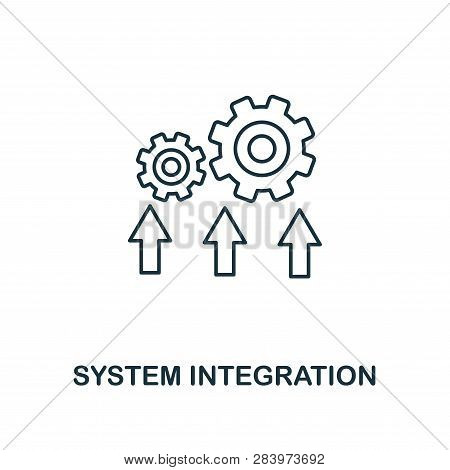 System Integration Icon. Thin Line Style Industry 4.0 Icons Collection. Ui And Ux. Pixel Perfect Sys