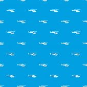 Military helicopter pattern repeat seamless in blue color for any design. geometric illustration poster