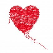 Scribbled heart poster