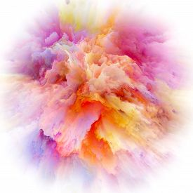 Digital Life Of Colorful Paint Splash Explosion