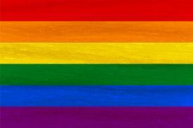 Lesbian, Gay, Bisexual, Transgender Lgbt Pride Flag. Rainbow Flag. Gay And Lesbian Love. Watercolor