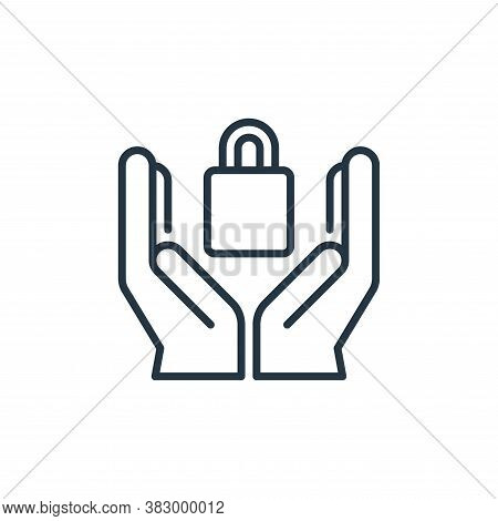security icon isolated on white background from cyber security collection. security icon trendy and
