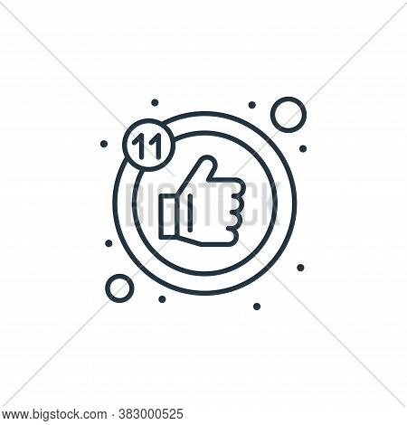 like icon isolated on white background from digital marketing collection. like icon trendy and moder