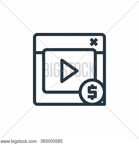 footage icon isolated on white background from business money and communication collection. footage