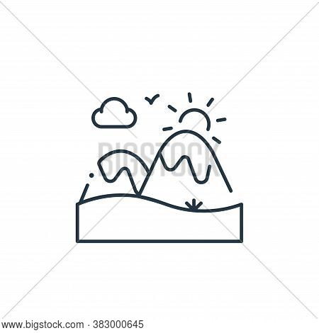 mountain icon isolated on white background from mother earth day collection. mountain icon trendy an