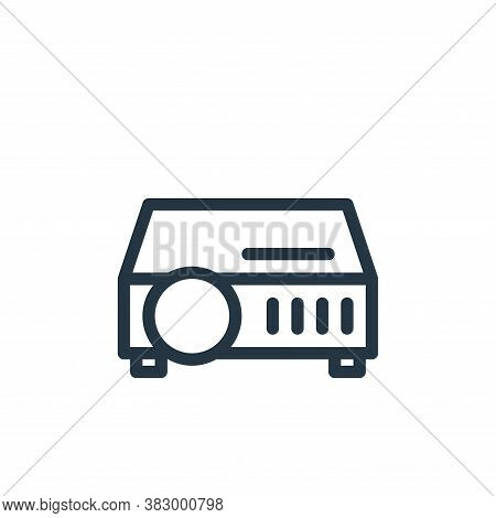projector icon isolated on white background from office equipment collection. projector icon trendy