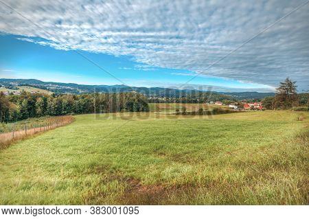Beautiful High Dynamic Range Picture Of Bavarian Landscape