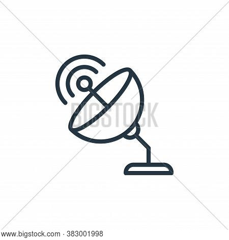 satellite dish icon isolated on white background from universe collection. satellite dish icon trend