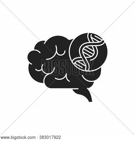 Genetic Predisposition Dementia Glyph Black Icon. The Disease Is Inherited. Sign For Web Page, Mobil
