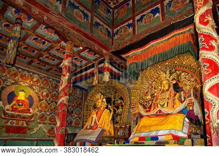 Harhorin. Mongolia. June 07, 2015. Interior Of The Erdene-zuu Monastery Is The First And The Largest
