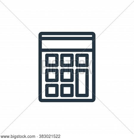 calculator icon isolated on white background from school collection. calculator icon trendy and mode