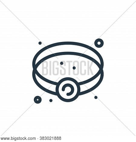bracelet icon isolated on white background from jewellery collection. bracelet icon trendy and moder