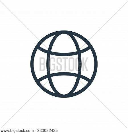 world icon isolated on white background from ecology collection. world icon trendy and modern world