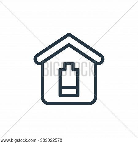 battery icon isolated on white background from smarthome collection. battery icon trendy and modern