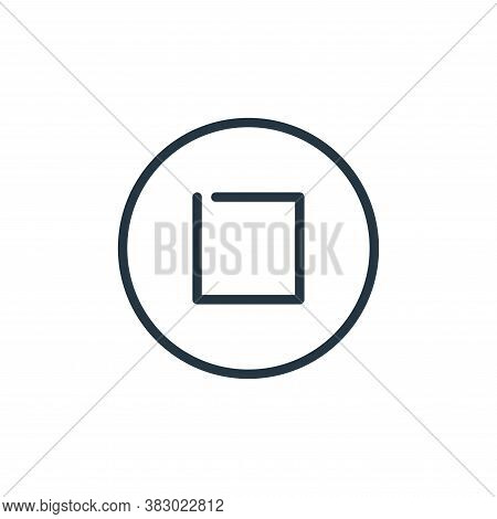 stop icon isolated on white background from media players collection. stop icon trendy and modern st