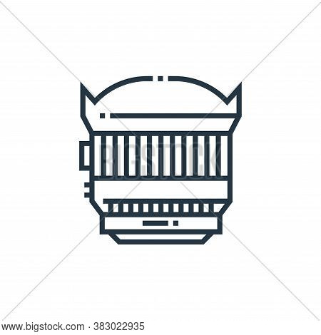 zoom lens icon isolated on white background from photography collection. zoom lens icon trendy and m