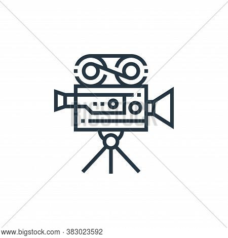 old camera icon isolated on white background from photography collection. old camera icon trendy and