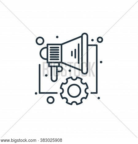 marketing icon isolated on white background from digital marketing collection. marketing icon trendy